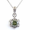 1.25 Ct Greenish Blue Diamond Pendant with Accents, AAA Certified - ZeeDiamonds