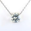 2.40 Ct Certified Off-White Diamond Pendant, Great Brilliance & Luster - ZeeDiamonds