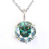 5.05 Ct AAA Certified Blue Diamond Solitaire Pendant, Great Sparkle - ZeeDiamonds