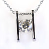 1 Ct Certified Elegant Off-White Diamond Pendant, Great Design - ZeeDiamonds