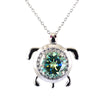 4.3 Certified Gorgeous Blue Diamond Pendant with Diamond Accents