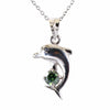 0.5 Ct AAA Certified Blue Diamond Solitaire, dolphin shape Pendant