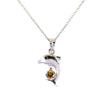 0.5 Ct Fancy Champagne Diamond Fish Shape Pendant, 100% Certified