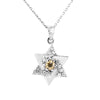 0.50 Ct Champagne Diamond Pendant With White Diamond Accent - ZeeDiamonds
