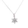 0.50 Ct Certified Off-White Tinge of Blue Diamond Star Pendant