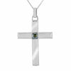 2 Ct AAA Certified Blue Diamond Solitaire Cross Pendant