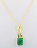 5.5 Cts Certified Emerald Gemstone Pendant in Panchdhatu, Astrological Pendant,Astrological Gemstones - ZeeDiamonds