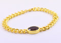 10 Ct Certified Oval Faceted Garnet Gemstone Bracelet - ZeeDiamonds