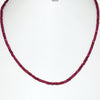 3.5 mm Ruby Gemstone Necklace In Yellow Gold Clasp - ZeeDiamonds