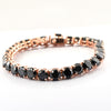 35 Cts Black Diamond Tennis Fancy Bracelet In Rose Gold - ZeeDiamonds