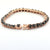 Black Diamond Tennis Bracelet in Rose Gold, Earth-mined Diamonds
