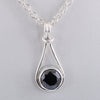 1.5 Ct AAA Quality Certified Black Diamond Solitaire Pendant