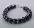 12 mm Certified Black Diamond Bracelet In Sterling Silver - ZeeDiamonds