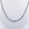 4 mm AAA Quality Round shape Black Diamond Necklace - ZeeDiamonds