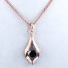 1 Ct AAA Quality Certified Black Diamond Solitaire Pendant