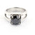 2-4 Ct Black Solitaire Diamond Ring In Four Prong Setting - ZeeDiamonds