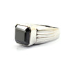 4 Ct AAA Quality Certified Radiant Cut Black Diamond Men's Ring - ZeeDiamonds