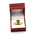 3 Carats Princess Cut Certified Black Diamond Ring In Yellow Gold Finish - ZeeDiamonds