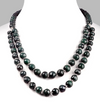4-5 mm Emerald & Colombian Mines Emerald Gemstone Necklace