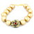 Golden Shell Pearl Bracelet With Designer Vintage Bead