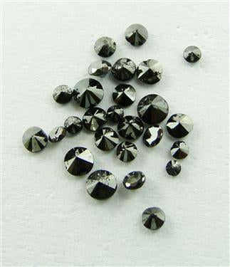 0.25 Cts Lot of (22 Pcs) Black Diamonds For Making Jewelry.AAA Certified - ZeeDiamonds
