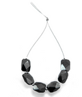 Black Diamond Beads-Certified. 6 pieces.15 carats.AAA.Excellent Cut.-I - ZeeDiamonds