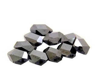 10 pcs AAA quality Certified Fancy Shape.Black Diamond Beads. 30 Cts.-I - ZeeDiamonds