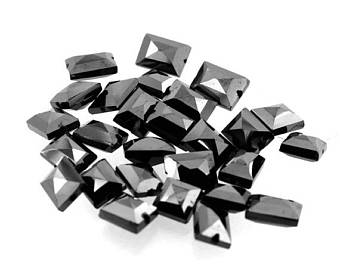 AAA Quality Fancy Checker Cut Black Diamond Beads - 30 Cts.10 Pcs. - I