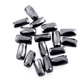 AAA Quality Fancy Checker Cut Pipe Shape Black Diamond Beads 6 Pcs. - ZeeDiamonds