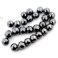 Black Diamond Beads-AAA Round Checker Cut Beads 6mm-12mm Certified - ZeeDiamonds