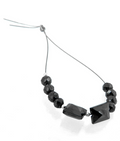 10 pc/ Round & Rectangular Shape Black Diamond Loose Beads -30 Cts.AAA - ZeeDiamonds