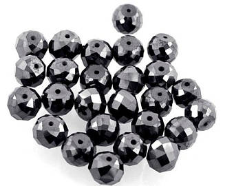 AAA Quality 8mm Diamond Beads.10 Pcs. Earth Mined.AAA.Certified - ZeeDiamonds