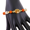 Rudraksh and 5 Ct Yellow Sapphire Gemstone Bracelet - ZeeDiamonds