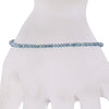 2 mm Certified Blue Diamond Round Bead Bracelet - ZeeDiamonds