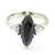 2.80 Ct Marquise Cut Black Diamond Ring, With CZ Diamond Accents - ZeeDiamonds