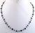 "4 mm Certified 18"" Black Diamond Beads Necklace In Silver Wire - ZeeDiamonds"