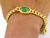 12 Ct Certified Emerald Stone Men Bracelet in Panchdhatu Metal - Gift for Father, Men's Jewelry, Astrological Bracelet - ZeeDiamonds