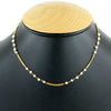 3 mm Fresh Water Pearl Gemstone Beads Chain Necklace In 18 Kt Yellow Gold Finish - ZeeDiamonds