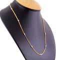 0.10 Carat White Diamonds Chain Necklace In 18 kt Gold - ZeeDiamonds