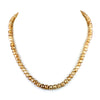 5 mm Champagne Diamond Beads Necklace in 18 kt Gold Clasp