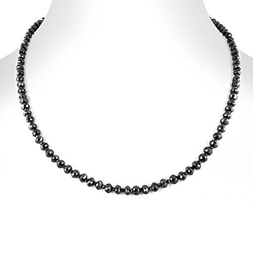 4 mm Conflict free Black Diamond Necklace in Knot Style - ZeeDiamonds
