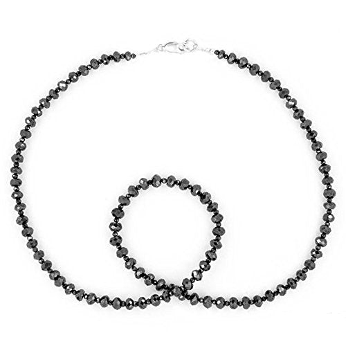 4 mm Certified Black Diamond Necklace, Great Shine & Luster - ZeeDiamonds