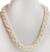 2-3 mm Braid Style Freshwater Pearl Gemstone Beaded Necklace - ZeeDiamonds
