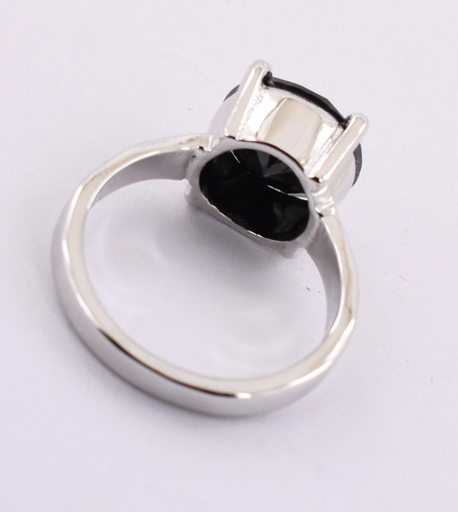 4.25 Cts Certified Black Diamond Men's Ring in Sterling Silver-Gift for Father - ZeeDiamonds