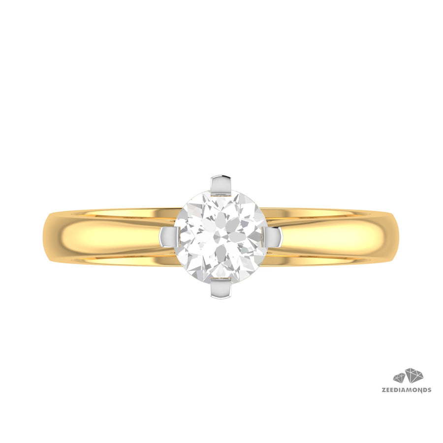 0.22 Carat Modern Solitaire Diamond Ring - Great Shine & Luster! VVs1, G-H - ZeeDiamonds