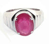 Certified Natural Certified Ruby Birthstone Gemstone Ring With Custom Size Option