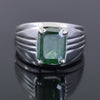 7.00 Ct Blue Diamond Solitaire Men's Ring In Emerald Cut, AAA Quality, Great Shine & Luster ! Watch Video - ZeeDiamonds