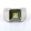 5.00 Ct Blue Diamond Solitaire Men's Ring In Princess Cut, AAA Quality, Great Shine & Luster ! Watch Video - ZeeDiamonds