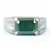 4.50 Ct Blue Diamond Solitaire Men's Ring In Emerald Cut, AAA Quality, Amazing Shine & Bling Watch Video - ZeeDiamonds