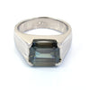 Certified 4.70 Ct Blue Diamond Solitaire Men's Ring In Emerald Cut, AAA Quality, Great Shine & Luster ! Watch Video - ZeeDiamonds